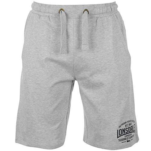 Lonsdale Herren Boxing Shorts Boxen Kurze Hose Sport Trainingshose Sporthose Grau XXX Large