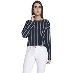 Vero Moda Women's Body Blouse Top (10178508_Navy Blazer_Small)