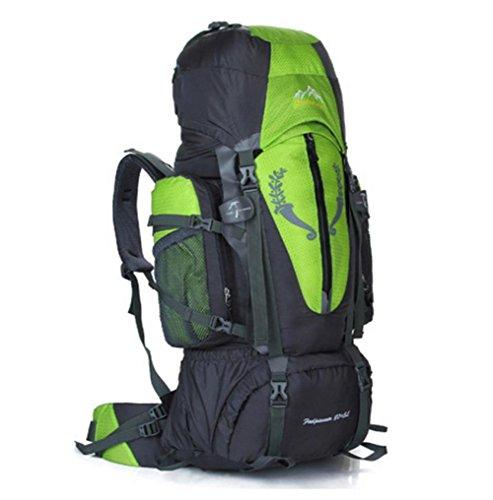 SZH&BEIB Wanderrucksack Extra Large Kapazität 85L für Outdoor-Reisen Bergsteigen Tasche wasserdicht Nylon B