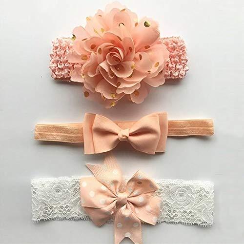 e/Satz Baby Mädchen Spitze Blume Stirnband Band Haar Beugt Elastisches Haarband Für Baby Kinder Kinder Haarschmuck (Color : C, Size : Elastic) ()