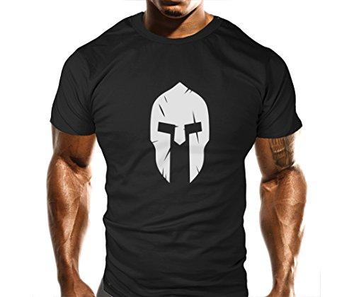 T-shirt de bodyduilding Coupe ample avec motif Spartan Gym -  - Large