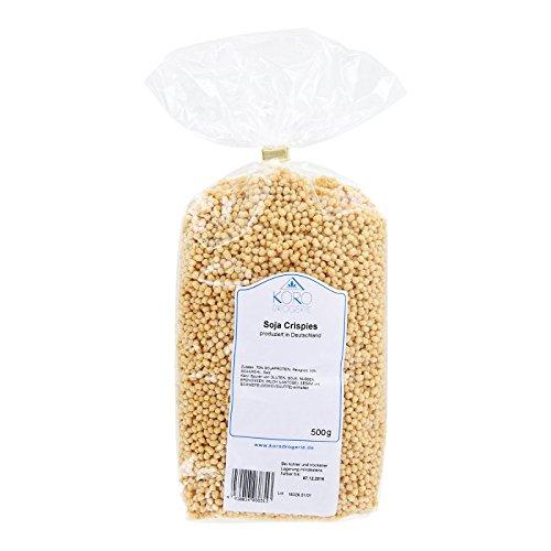 Preisvergleich Produktbild KoRo - Soja Protein Crispies | Protein Balls Aus Sojaprotein, Qualität Aus Deutschland, 500 g Vorteilspackung, Müsli, Eiweißzusatz, Fitness