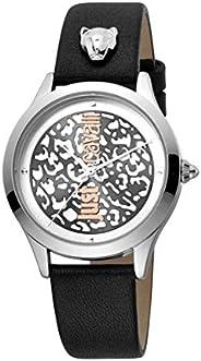 Just Cavalli Animalier Pelle Metal Watch JC1L170L0015 - Quartz Analog for Women in Genuine Leather Strap
