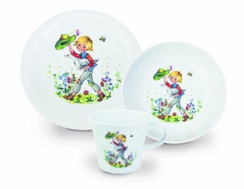 Kahla Kids Kindersatz, Kinder, Besteck, Geschirr, 3tlg, Hans im Glück, Porzellan, 20D108O01008C