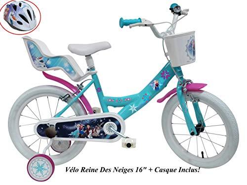 Reine des NEIGES Vélo Enfant Fille Reine des Neiges - 16'' + Casque Inclus!