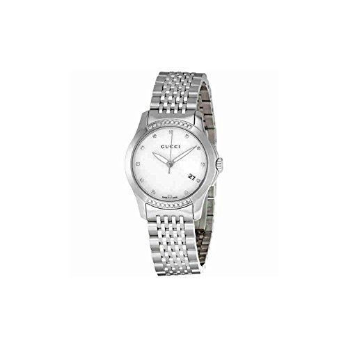 Gucci Damen-Armbanduhr 27mm Armband Edelstahl + Gehäuse Quarz Analog YA126510