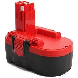 Creabest 18V 3000mAh Ni-MH Batterie de Remplacement pour Bosch 2607335277 2607335278 2607335535 2607335536 2607335680 2607335695 2607335713 BAT025 BAT160 BAT180 13618 1644K 3860CK 52318 PSB 18 VE-2