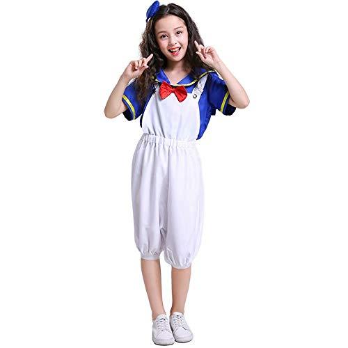 Erwachsene Kinder Sailor Naval Halloween Kostüme Cosplay Familie Cartoon Cute Duckling Kostüm Cosplay Navy Sailor Uniform Männer / Frauen / Mädchen Kinder / Erwachsene Halloween Party (Cute Sailor Kostüm Frauen)