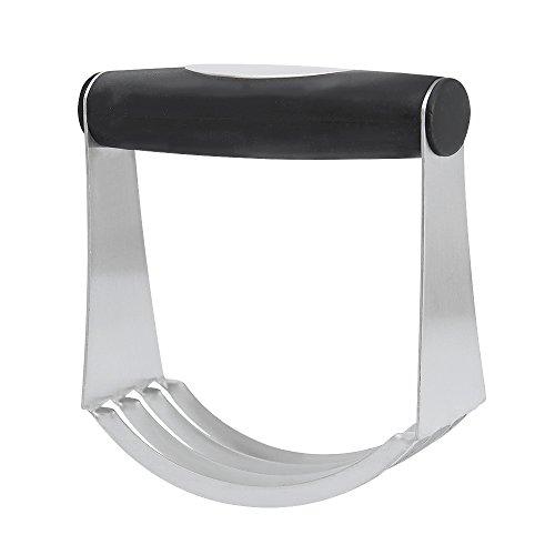 Teigausstecher und Teig Mixer 2in 1, jtdeal 100% Edelstahl Hand-Mixer Teig Mixer mit Easy Grip Gummi Griff perfekt für Zuhause und professionellen Gebrauch, 12x 10cm (11,9x 10,2cm)