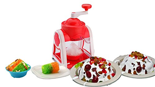Manual Gola Maker with Slush Maker and Ice Crusher Made from Virgin Plastic & smooth finish makes it super safe (Plastic approved by FSSAI) (ICE maker)