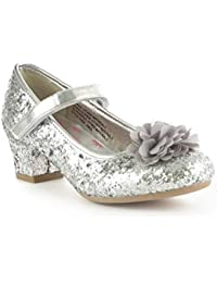6105ce64549b Lilley Sparkle Girls Sliver Party Shoe