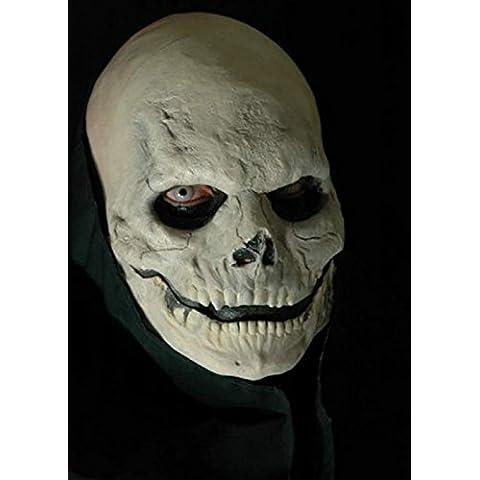 Aplicación prótesis de cráneo maquillaje Media máscara