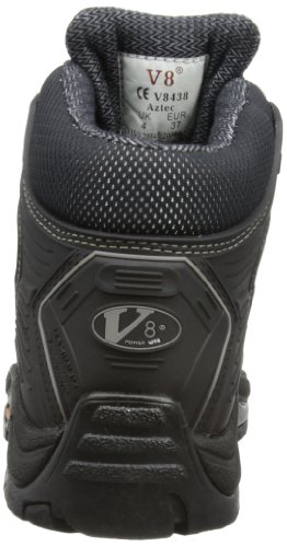 V12 Aztec, Urban Safety Hiker, 08 UK 42 EU, Black/Silver Noir (black/silver)