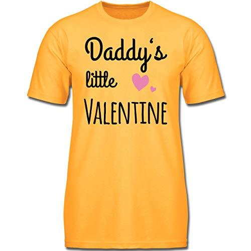 Sprüche Kind - Daddys Little Valentine - 140 (9-11 Jahre) - Gelb - F130K - Jungen Kinder T-Shirt (Shirts Valentine Jungen)