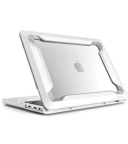 MacBook Pro 15 Hülle 2016/2017/2018 i-Blason [Heavy Duty] Schutzhülle Bumper Case TPU Cover für Apple MacBook Pro 15 Zoll 2016/2017/2018 mit Touch Bar und Touch ID (Weiß) - Case Macbook Apple White