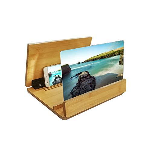 CCHAO Smartphone-bildschirmverstärker 12-Zoll-protokoll 3D Hd Praktisch Einstellbarer Augenschutz Strahlenschutz Für Alle Smartphones,Gold