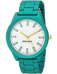Nine West Women's NW/2008WTTL Matte Teal Rubberized Bracelet Watch