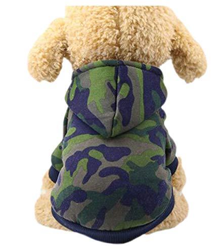 Crasy Shop Warmer Mantel Welpen T-Shirt Sport Kapuzenpullover Katze Herbst Winter Pullover Bekleidung für kleine Hunde Welpen Schnauzer Teddy Pudel Chihuahua