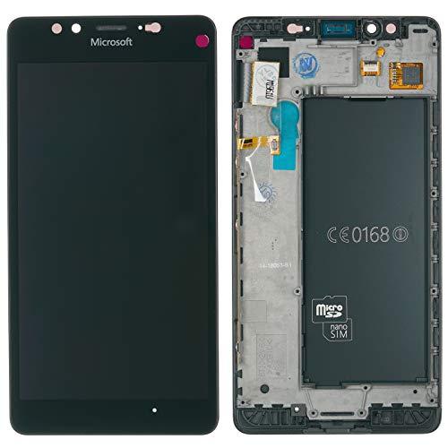 Original Microsoft / Nokia Lumia 950 & 950 DS Dual SIM LCD Display Touchscreen Touch Glas Bildschirm Komplett + Rahmen Schwarz PN: 00814K8 -