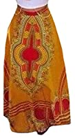 Tootlessly Women's Bohemian Maxi Versatile Casual Floral Printed Skirt As Picture XS