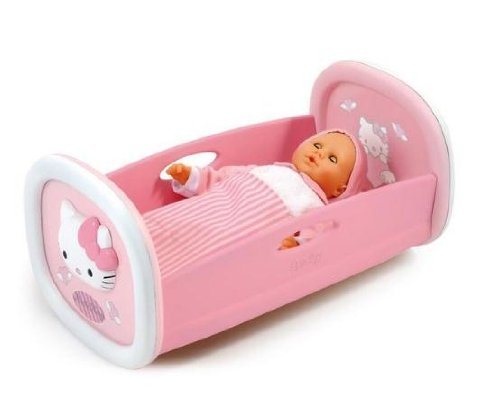 Smoby - 24062 - Poupée et Mini-Poupée -  Hello Kitty - Lit à Bascule