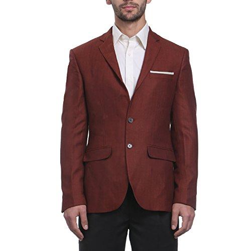 Park Avenue Men Maroon Polyester Blend Jackets