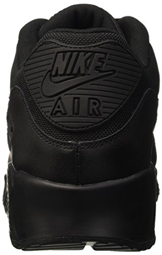 Nike Air Max 90 Leather, Running Entrainement Homme Noir (Black/Black/Black/Black)