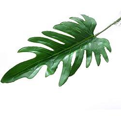 YKANG 10 Stück Tropische Blätter, Palmenblätter Dschungel Strand Thema Party Hochzeit Dekorationen Tischdekoration,C