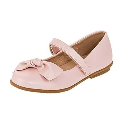 4b00c3b22e0bff Festliche Kinder Mädchen Ballerinas Schuhe für Partys und Freizeit in  Vielen Farben M297rs2 Rosa Gr. Doremi