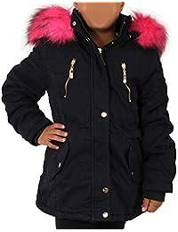 neueste kaufen klare Textur schöner Stil Paddock Girl: Madchen Parka Mit Rosa Fell