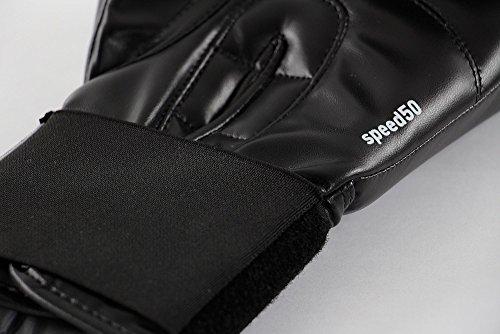 Adidas® Boxhandschuhe Speed 50 schwarz/weiß, 12 Unzen, Box-Handschuhe, Boxhandschuh Glover, Leder Abbildung 3