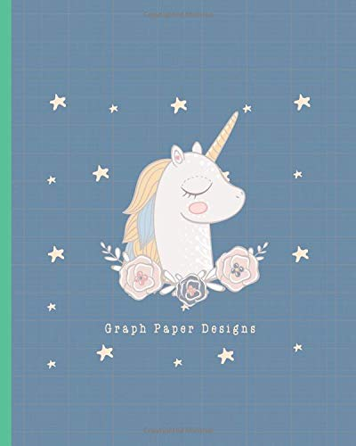 Graph Paper Designs: 2:3 Ratio Design Blank Knitter's Journal Graph Paper Notebook on Your Design Knitting Charts for Creative New Patterns Composition Notebook Blue Unicorn House Theme -