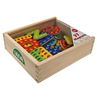 SIMM Spielwaren Lena 65823-Wooden Magnetic Letters Pack of 37