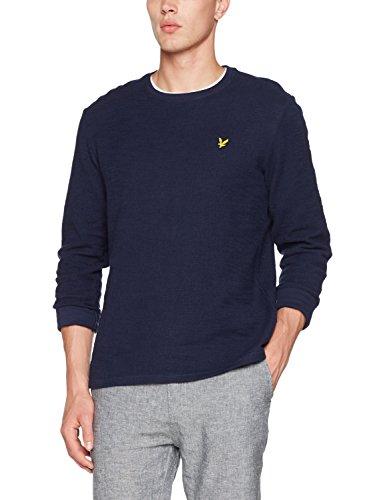 Lyle & Scott Herren Light Weight Slub Sweatshirt, Blau (Navy Z99), L Plain Sweatshirt Herren