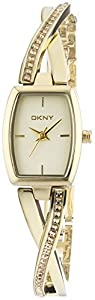 DKNY NY2237 - Reloj de cuarzo con correa de acero inoxidable para mujer, color dorado de DKNY