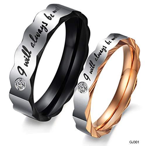 ASH Titan Ringe Für Männer, Frauen Buchstaben Titanium Verlobungsring Eternity Wedding Band Inglés Für Jahrestag/Engagement/Paar Ring,Mensize8