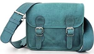 La Borsa a tracolla (S) TURQUOISE, borsa pelle vintage, la borsa a mano, borsa a tracolla, turchese, blu PAUL MARIUS, Vintage & Retro