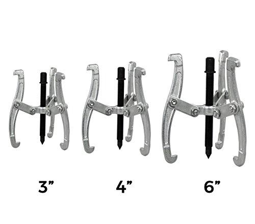 Estrattori di cuscinetti auto a 3 griffe misure 3-4-6 pollici uso industriale meccanico officine. MWS