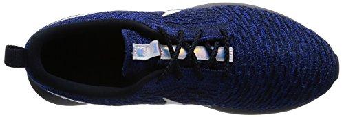 Nike Men's Nike Roshe Nm Flyknit Shoe, Gymnastique homme Noir (Dark Obsidian/White/Racer Blue)