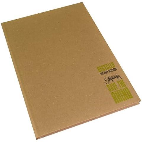 RHINO - Cuaderno (tapas duras, A4, 160 páginas, reciclado)