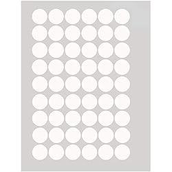 Vinilo adhesivo de lunares para pared, despegable, vinilo, Blanco, 3cm 54dots