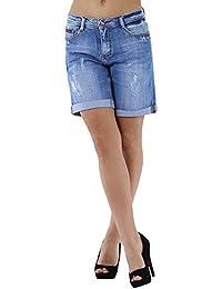 Short en jean délavé boyfit