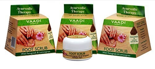 VAADI HERBALS FOOT SCRUB WITH FENUGREEK & LEMONGRASS OIL 30g (3 x 30g) by...