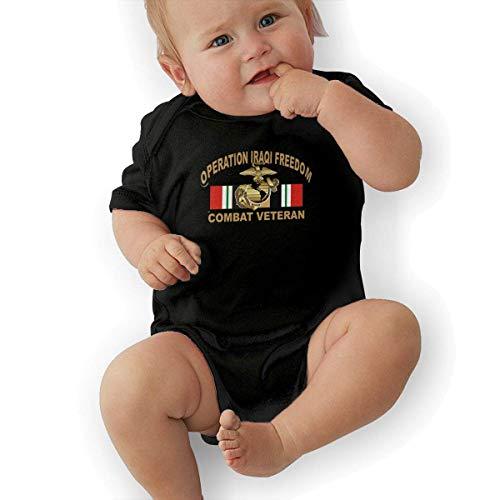 FAFANIQ Operation Iraqi Freedom OIF Marine Corps EGA Veteran Unisex Baby Short Sleeve Bodysuit-6M -