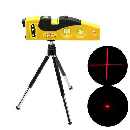 Gearmax® Mini Linien Markierungs-Maschine 160 Grad Laserbereich mit justierbarem Stativ (Gelb)
