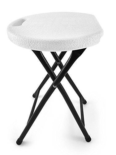 Besonders stabiler, faltbarer Hocker - Trägt bis zu 200kg - Mit speziellem ergonomischen Sitzdesign - 46cm