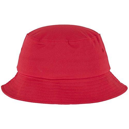 Flex fit Cotton Twill Bucket Hat Red One Size Casquette Unisex-Adult