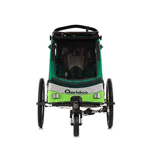 Qeridoo Sportrex 1 Fahrradanhänger 2017 – 1 Kind, Farbvariante:grün - 2