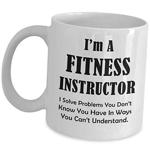 Fitness Instructor Coffee Mug Gym Instructors Gift - I Solve Problems - Personal Training Trainer Tea Cup Mentor As Seen On Shirts Men Women Appreciation Funny Cute Gag - Oma Golf Shirt