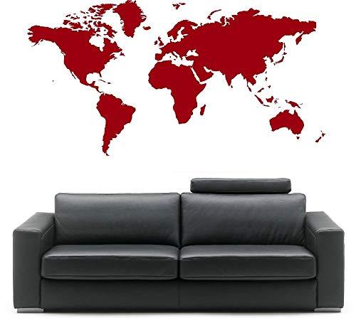 Decor World Map Atlas Wall Sticker Art Curved Vinyl Bedroom Decorative 57X33cm -